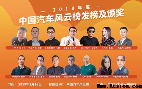 """奇瑞荣膺""""2018年度风云中国汽车集团"""""""